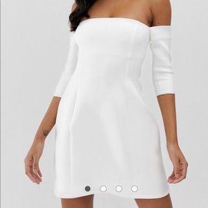 ASOS Design scuba Bardot mini shift dress size US4